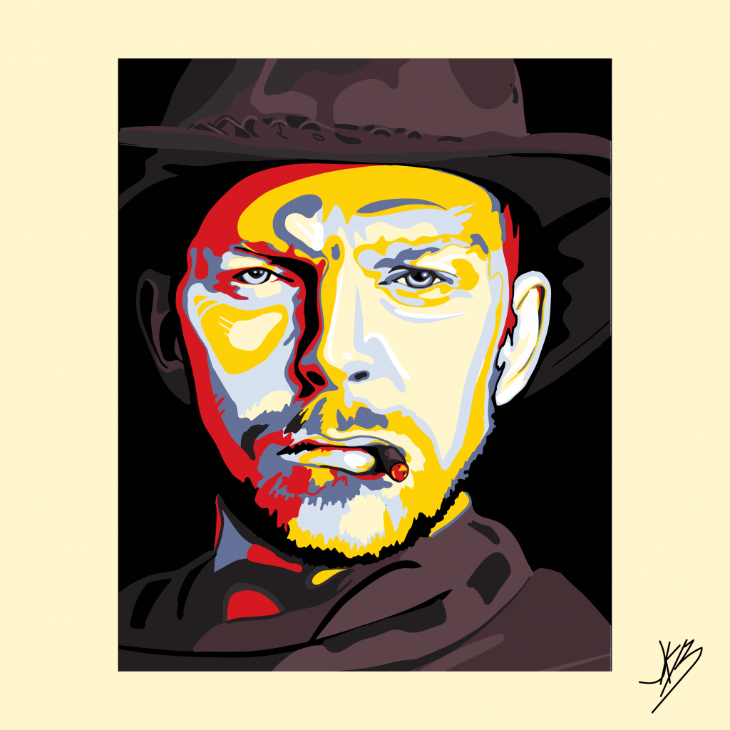 Cowboy painting by Jonathan Burchett