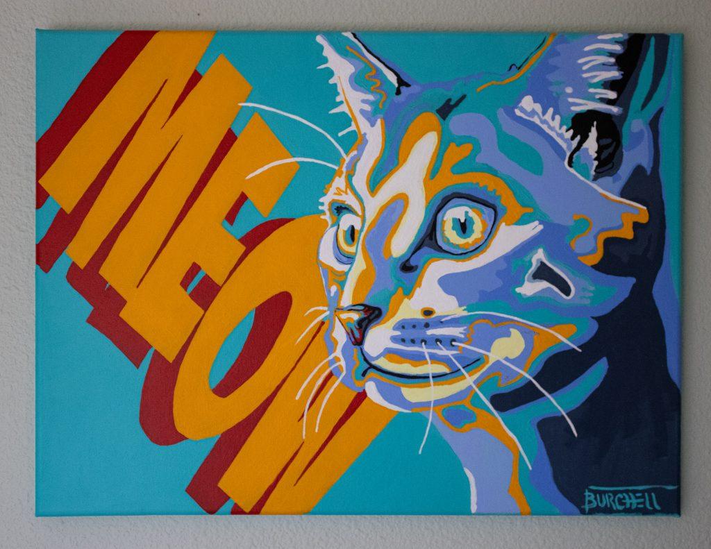 Meow painting by JKBurchett