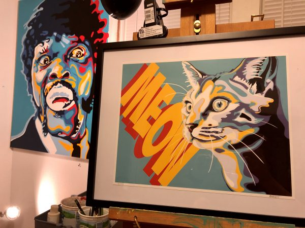 Meow Print in Studio